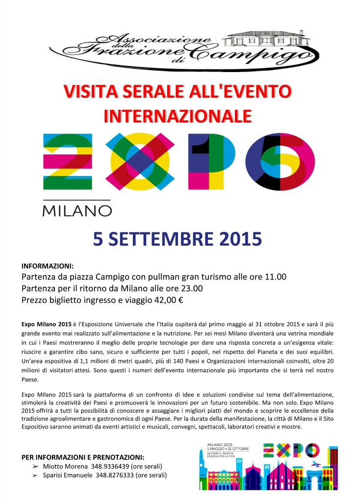 Expo Milano Serale